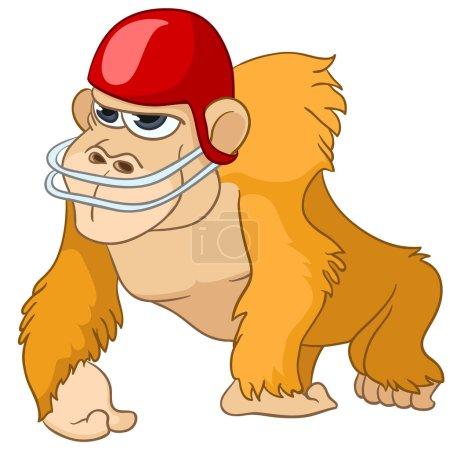 Cartoon Character Monkey Isolated on White Backgro...
