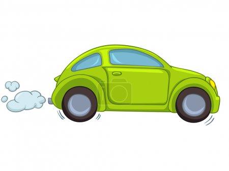 Illustration pour Voiture de dessin animé isolée sur fond blanc. Vecteur EPS8 . - image libre de droit