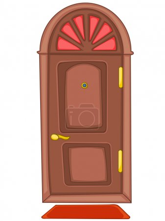 Illustration for Cartoon Home Door Isolated on White Background. Vector. - Royalty Free Image