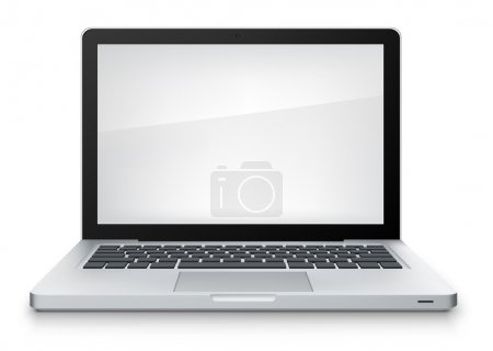 Illustration for Laptop Isolated on White Background. Vector Illustration. - Royalty Free Image
