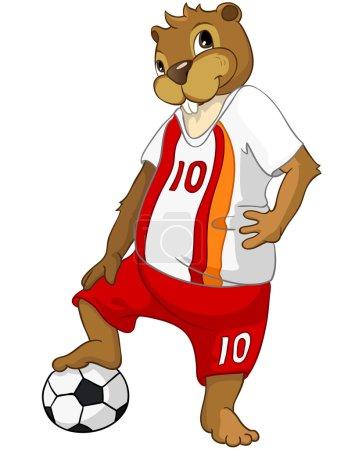 Illustration for Beaver CREES Isolated on White Background. - Royalty Free Image