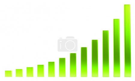 Success: green diagram or chart