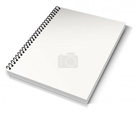Photo pour Reliure spirale. Bloc note avec blanc - image libre de droit