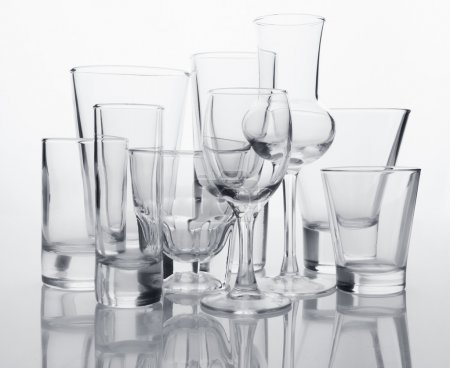Photo for Glasses collection on white background - Royalty Free Image