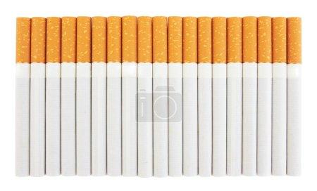 Closeup of a pile of cigarettes