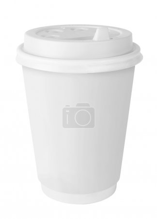 Photo for White Paper Cup isolated on white - Royalty Free Image