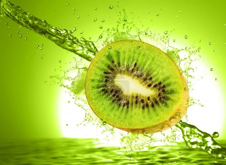 Kiwi and orange wet