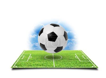 Photo pour Football soccer isolé sur un blanc - image libre de droit