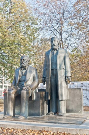 Statue of Karl Marx and Friedrich Engels at Berlin, Germany