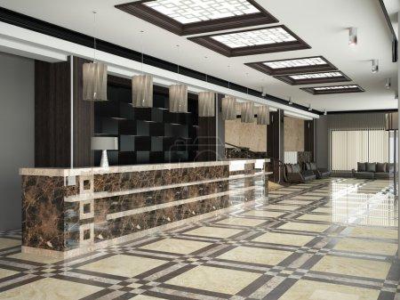 Photo pour Hall d'accueil moderne pour hôtel - image libre de droit