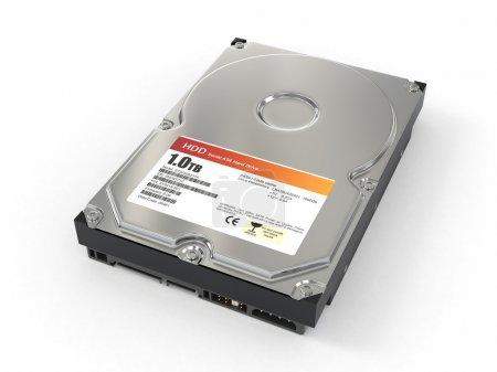 HDD. ATA Hard disk drive. 3d