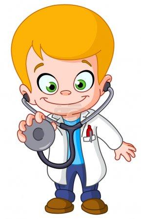 Illustration pour Docteur enfant - image libre de droit