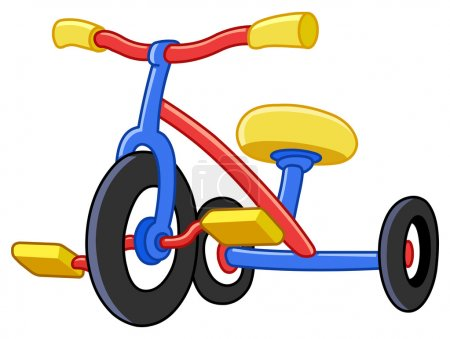 Illustration for Colorful tricycles - Royalty Free Image