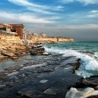 View of the city of Aktau in the Caspian Sea....