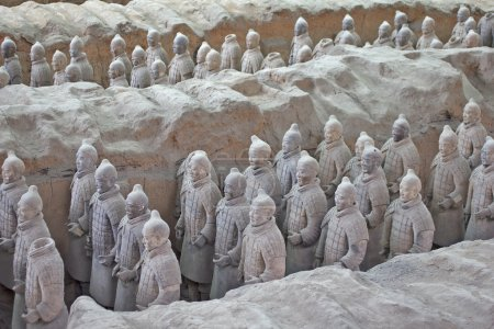 Terracotta warriors excavation