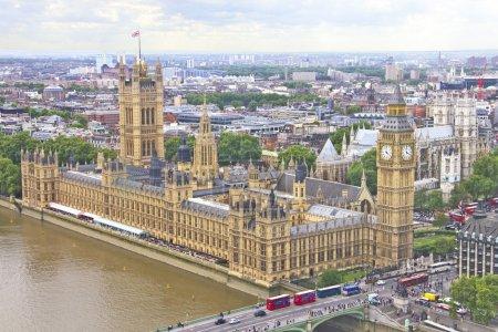 Vista aérea de Londres, Inglaterra