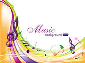 Vector musical background with colorful musical notes and waves and copy space for your text EPS 10 can be use as flyer banner poster or template for musical events and other occasions