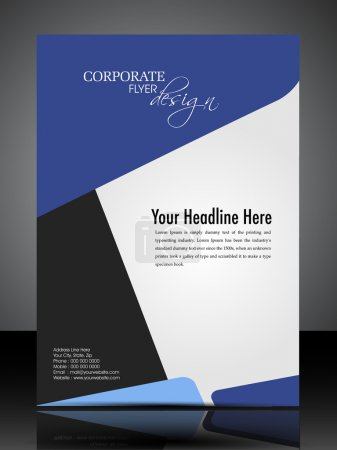 Photo for Professional business flyer template or corporate banner design in dark and bright colors with space for your text, can be use for publishing, print and presentation. Vector illustration in EPS 10. - Royalty Free Image