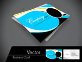 Abstract colorful bright color professional and designer business card template or visiting card set EPS 10 Vector illustration