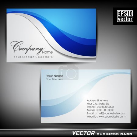 Illustration for Abstract professional and designer business card template or visiting card set. EPS 10. Vector illustration. - Royalty Free Image