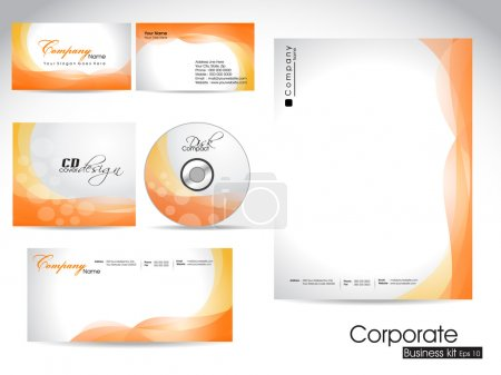 Professional corporate identity kit or business kit.