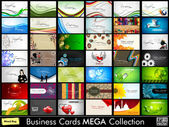Elegant Abstract Vector Business Cards Mixed Bag set in various