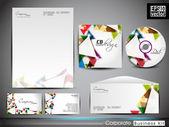 Professzionális vállalati-azonosság készlet vagy üzleti csomag művészi, absztrakt, geometrikus alakzatokat