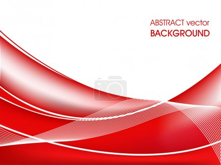 Illustration for Wave background composition in red - vector illustration. for more similar abstract, please visit in my gallery. - Royalty Free Image