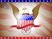 Vector illustration of American flag with eagle