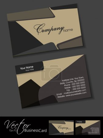 Vector illustration of a business card set in retro style.