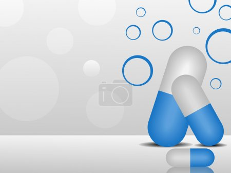 Illustration for Vector illustration of medical background with capsules on white abstract background.EPS 10. - Royalty Free Image
