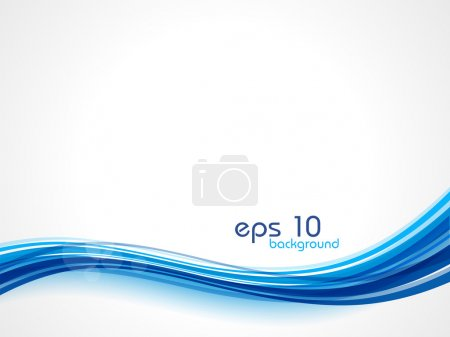 Illustration for Abstract waves background in blue color, isolated on white. EPS 10. - Royalty Free Image