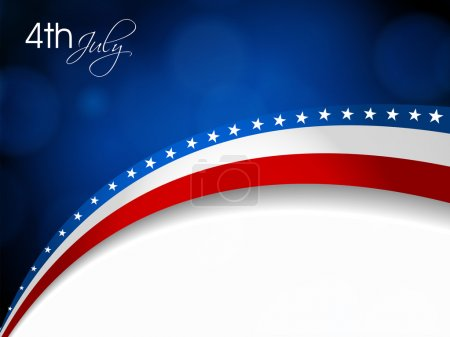 Photo for American Flag, Vector background for Independance Day and other events. Illustration in EPS 10. - Royalty Free Image