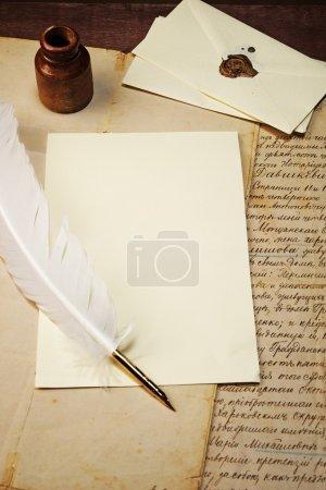 Vintage letter concept.