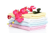 Colorful children towels with orchid