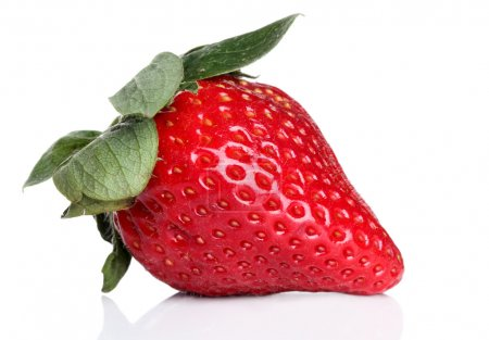 Photo for Fresh strawberry on a white background - Royalty Free Image