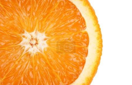 Photo for Slice of Juicy orange. Isolated on white background - Royalty Free Image