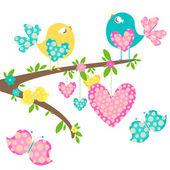 "Постер, картина, фотообои ""Spring birds"""