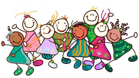 Illustration for Group of smiling kids with funny faces - Royalty Free Image