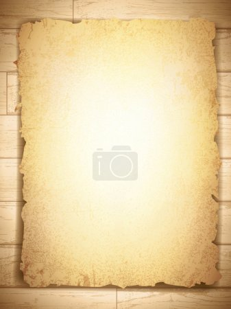 Vintage grunge burnt paper at wooden background