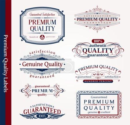 Ilustración de Vector emblemas decorativos ornamentales de calidad - Imagen libre de derechos