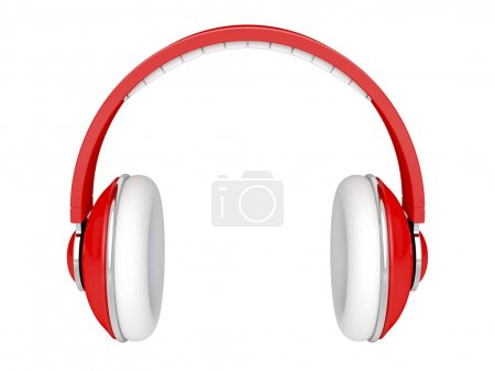 Red headphones