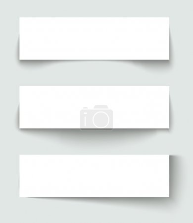 Illustration for Set of banners with different shadows. Vector illustration. - Royalty Free Image