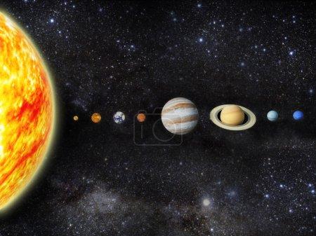 Photo pour Illustration de notre système solaire - image libre de droit