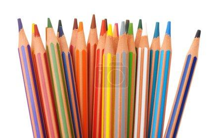 Set of plastic colour pencils