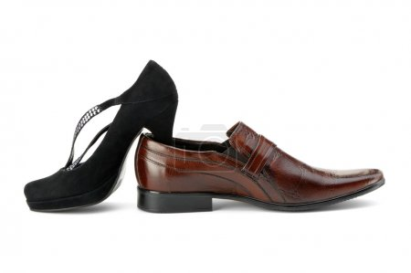 Female and man's shoe