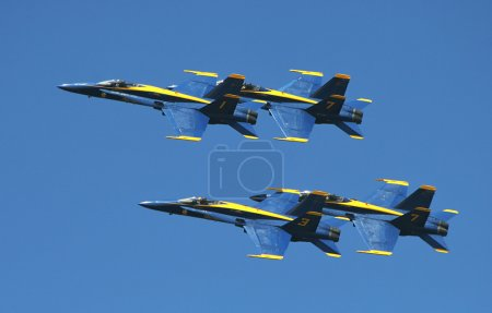 US Marine Corps Blue Angels demonstration squadron