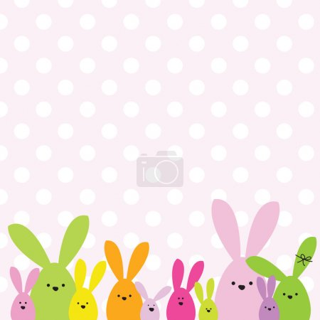 Illustration for Colorful easter card with copy space - Royalty Free Image