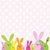Colorful easter card with copy space