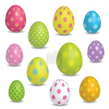 Illustration for Colorful Easter eggs - Royalty Free Image